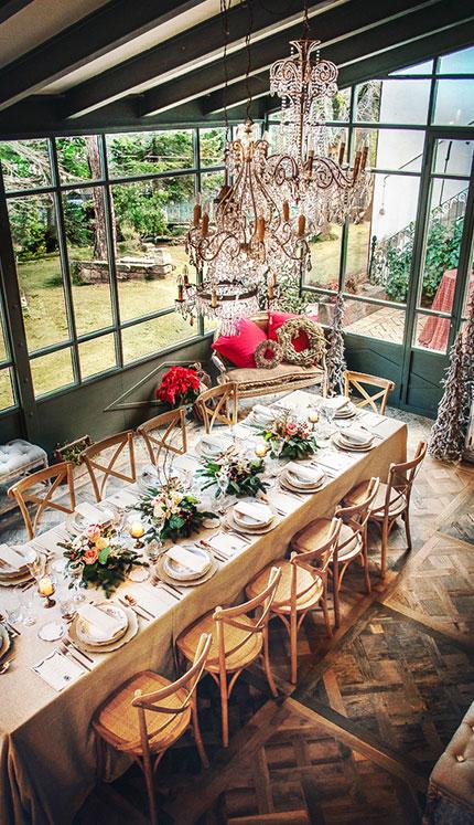galeria cercedilla recotaca mesa navidad catering